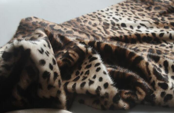 Moda leopardo largo pelo animal algodón felpa lana tela para abrigos textiles hechos a mano parches Jacquard grueso lentejuelas tela A347 - 5