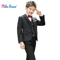 2PCS kids boys black suits set boy suit formal blazer page boy suits children party clothes costume little boy suits for wedding