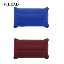 VILEAD Portable Camping Pillow 46*25 cm Outdoor Hiking Travel Inflatable Cushion Plane Beach Sleep Ultralight Soft Mat
