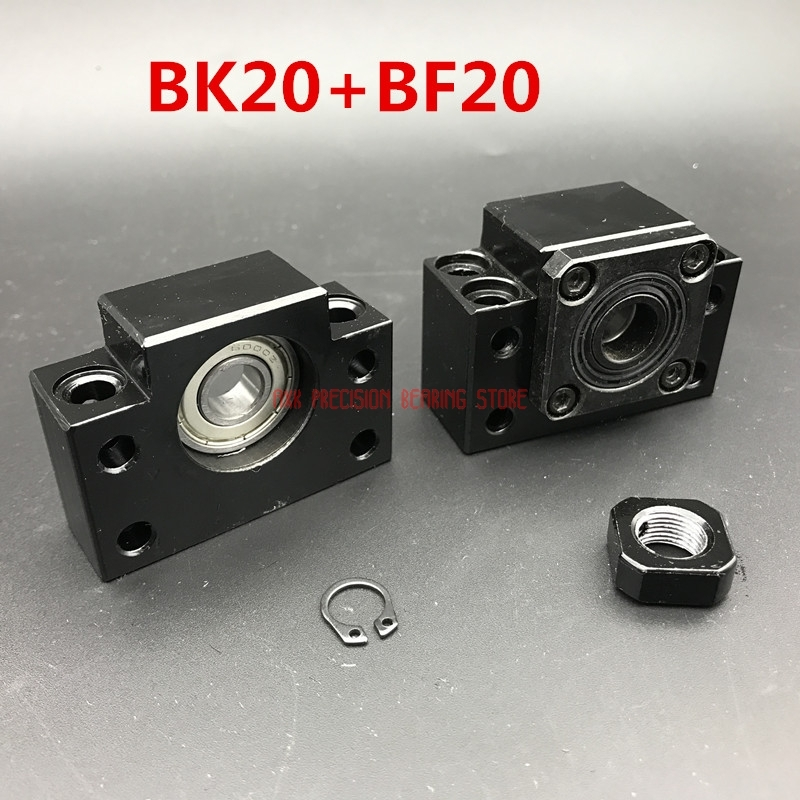 2019 AXK Linear Rail Free Shipping Bk20 Bf20 Set : One Pc Of And For Sfu2505 Sfu2510 Ball Screw End Support Cnc Parts Xyz2019 AXK Linear Rail Free Shipping Bk20 Bf20 Set : One Pc Of And For Sfu2505 Sfu2510 Ball Screw End Support Cnc Parts Xyz