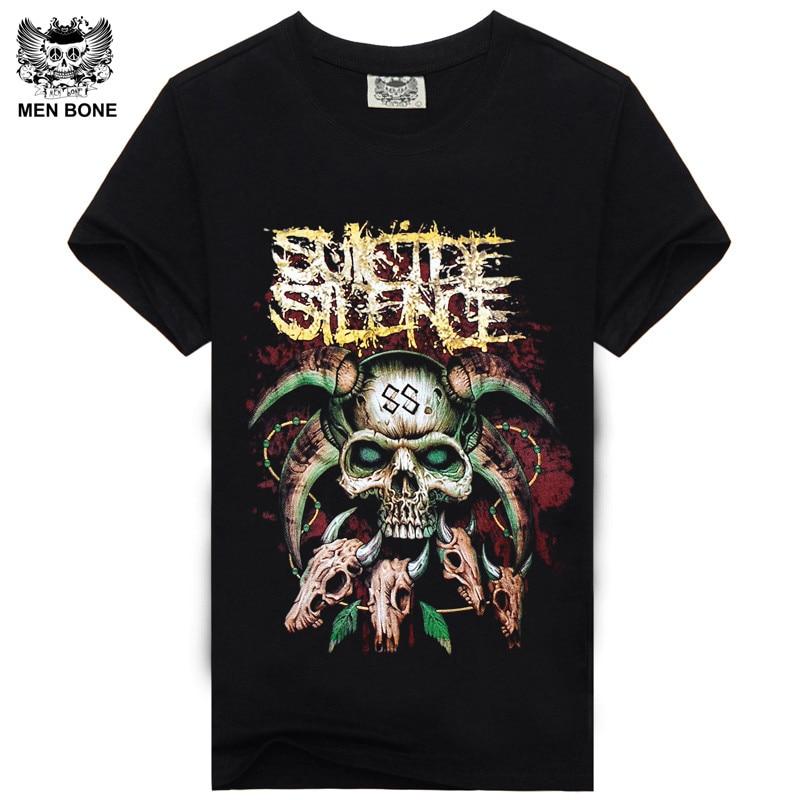 [Men bone] men 3D shorts fashion summer Suicide <font><b>Silence</b></font> t-shirts casual t shirt clothing Men T Shirt <font><b>all</b></font> size free shipping