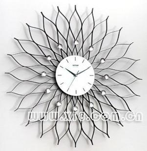 Drow Tieyi Lotus Big Wall Clock Fashion Clock Brief