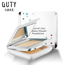 QUTY Crystal-clear Radiance Powder Cream Foundation Smooth Brighten Concealer Moisture Natural Makeup Naked Highlighter Base