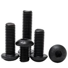 Button Head Hex Socket Cap Screw Hexagon Mushroom Pan Metric Thread Machine Bolts Alloy Steel Hardware Black 10.9 Class M5 M6 M8 цены