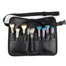 Black Travel Makeup Brush Bag Empty Organizer Pouch Pocket Holder Kit Practical Cosmetic Make Up Tool Storage Case(China)