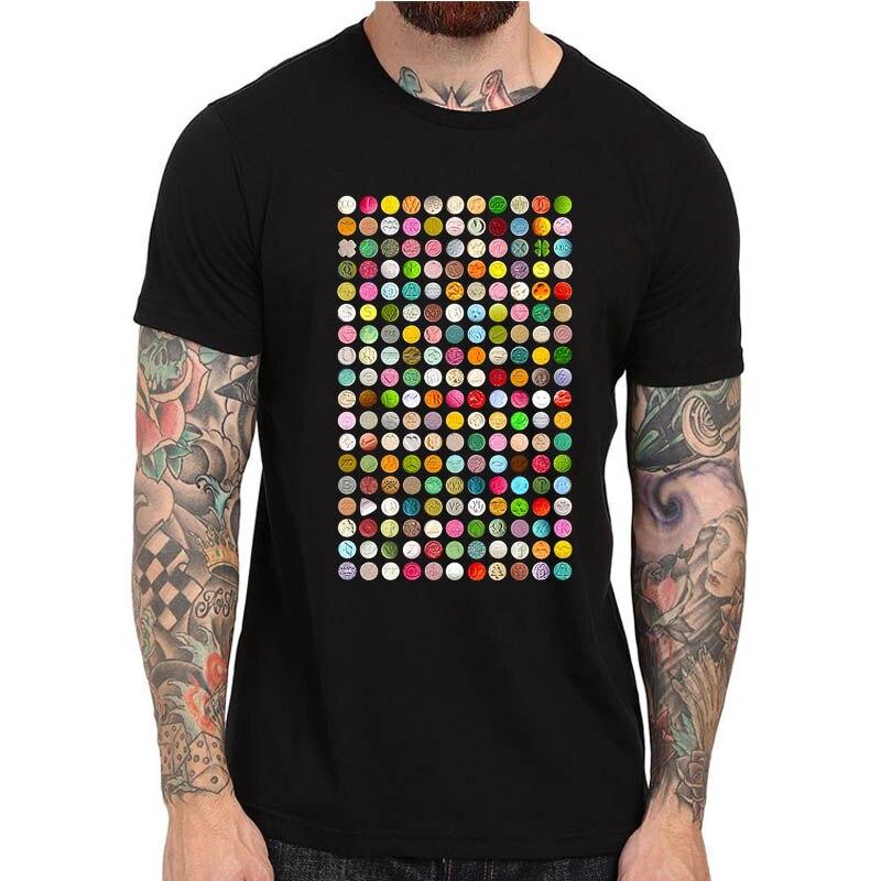 80's Rave מוסיקה T חולצת אקסטזי גלולות XTC - בגדי גברים
