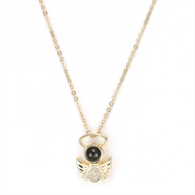 New Angel Wings Girl Pendant Necklace Fashion Ladies Party Accessories Romantic Tanabata Gift