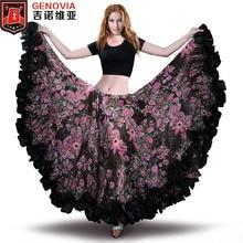 7f040f347 2019 Belly Dance Chiffon Tribal Bohemia Gypsy 25 yard 720 Long Skirt  Flamenco Skirt Belly Dance