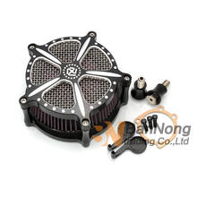 Motorcycle CNC RSD logo Luchtfilter Voor Harley Dyna Sportster Iron XL 883 1200 48 72 Touring Road King Electra Street(China)