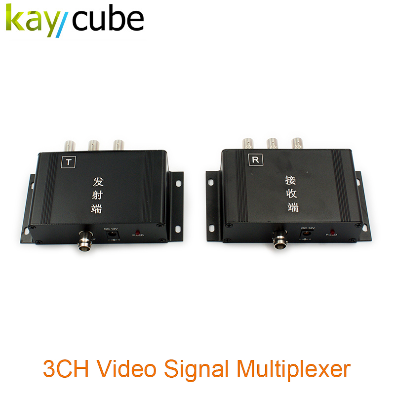 High Quality Up To 600m Transmission Distance CCTV Camera Transmitter 3CH Video Multiplexer For Security System Kaycube