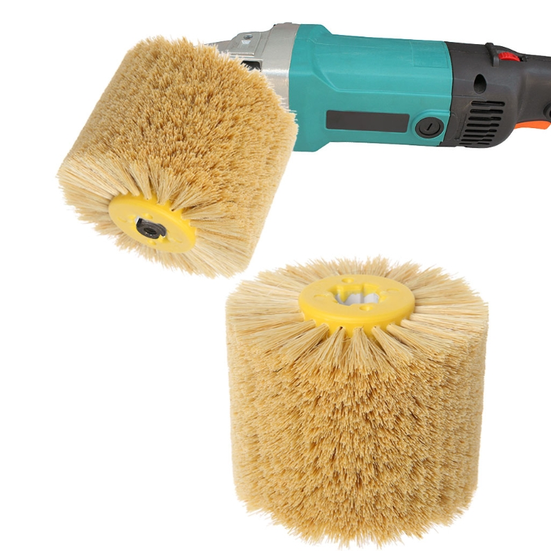 Deburring Sisal Wire Round Brush Head Polishing Grinding Tool Buffing Wheel Woodworks For Furniture Wood Sculpture Rotary Drill
