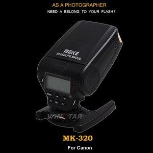 Image 2 - חדש מיני פלאש Speedlite MEIKE MK320 TTL פלאש עבור Canon EOS 5DII 6D 7D 40D 50D 60D 70D 550D 600D 650D 700D 580EX 430EX מצלמות