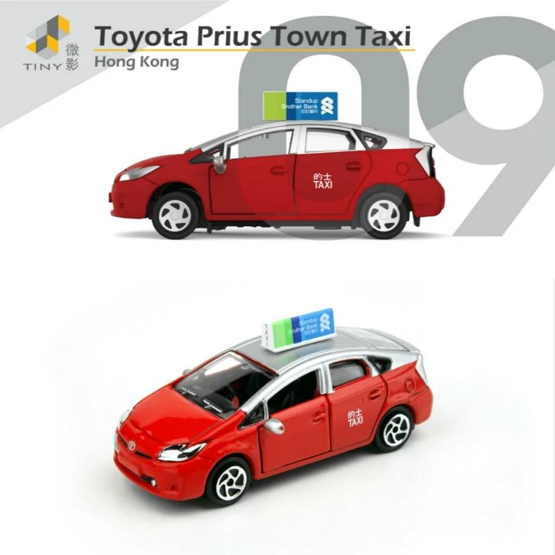 TINY City 09 1//64 Toyota Prius Hong Kong Taxi Red Urban Car Die Cast #ATC64010