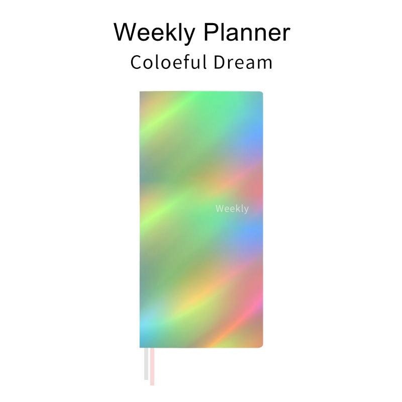 Laser Trend Pocket Weekly Planner Notebook 88 Sheets 19.1*9.8cm DIY Weekly Plan Book Gift