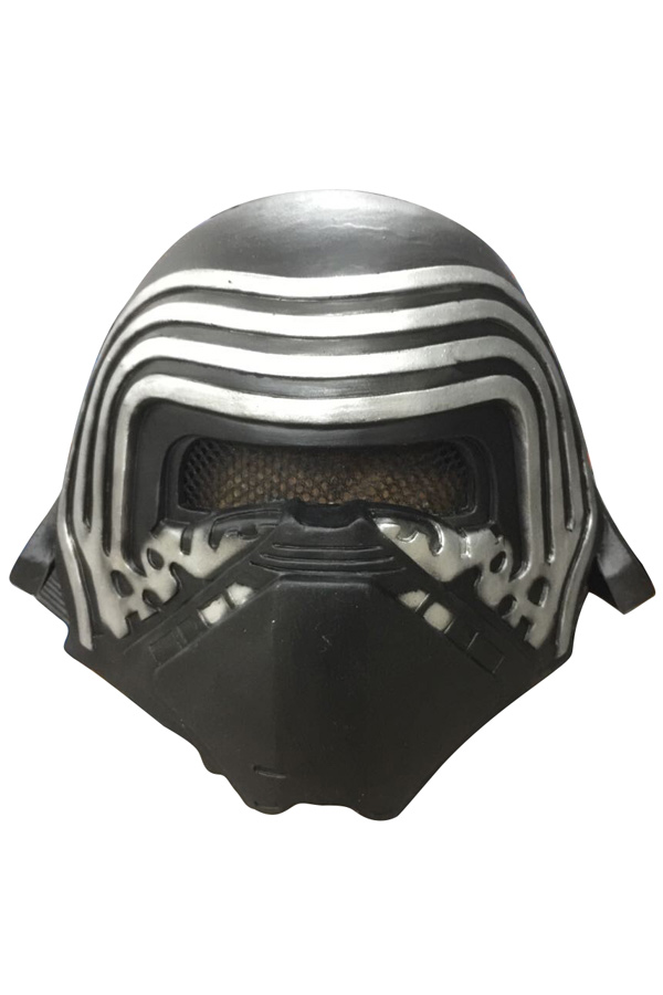 Hot Kylo Ren Mask <font><b>Newest</b></font> <font><b>Star</b></font> <font><b>Wars</b></font> 7 <font><b>The</b></font> <font><b>Force</b></font> <font><b>Awakens</b></font> Halloween Cosplay Cool PVC Head Helmet For Children adult Black with Mask