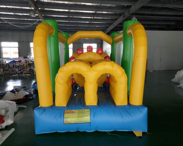 Pvc Small Inflatable Bouncy Castle For Kids Inflatable Slide