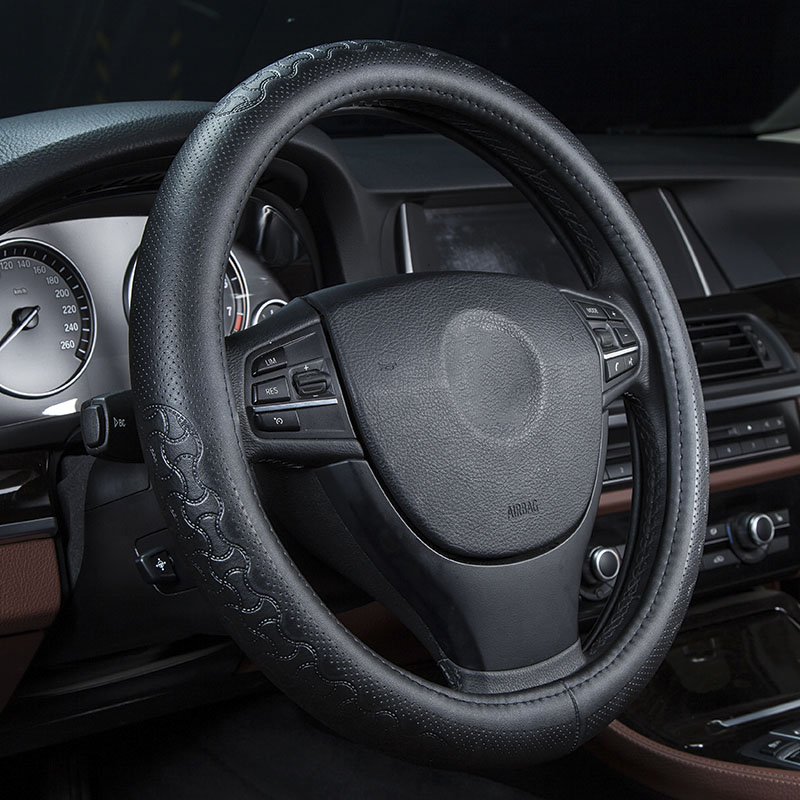 Cowhide Steering Wheel Protection Cover For Volkswagen passat b6 polo golf jetta Bora Lavida lamando Car interior accessories