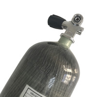 Acecare HPA PCP Tank 4500psi 300bar 6.8L Carbon Fiber Composited Gas Cylinder for diving scuba with Valve Drop Shipping