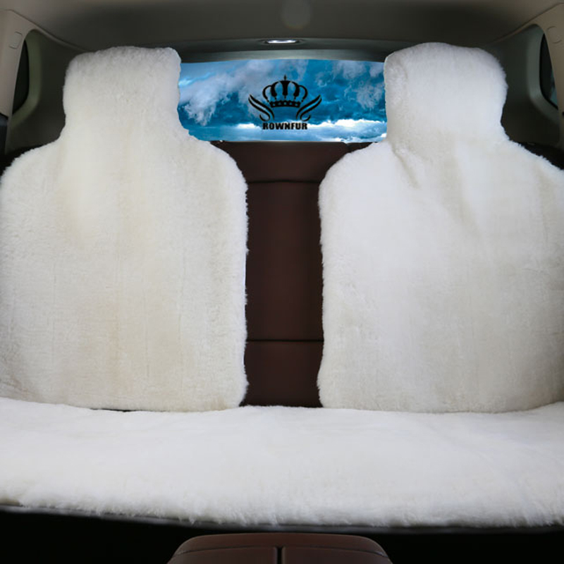 3pc back fur capes automobiles Seat Cover of 100 sheepskin shorn fur Mouton universal size car