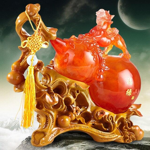 Kantoorinrichting Bos Groep.Chinese Dappere Kalebas Ornamenten Ambachten Home Decorations