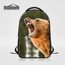 Dispalang 2017 Лидер продаж Мужской Досуг сумка для ноутбука Прохладный Медведь животных Школьный для Высокие Школьные рюкзаки ноутбук рюкзак