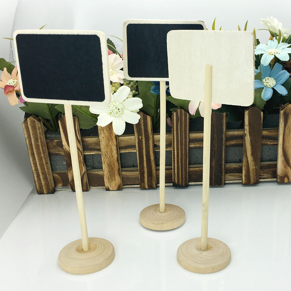24pcs mini wooden wood chalkboard blackboard table number place 24pcs mini wooden wood chalkboard blackboard table number place card holder with base for wedding birthday party in party diy decorations from home garden reviewsmspy