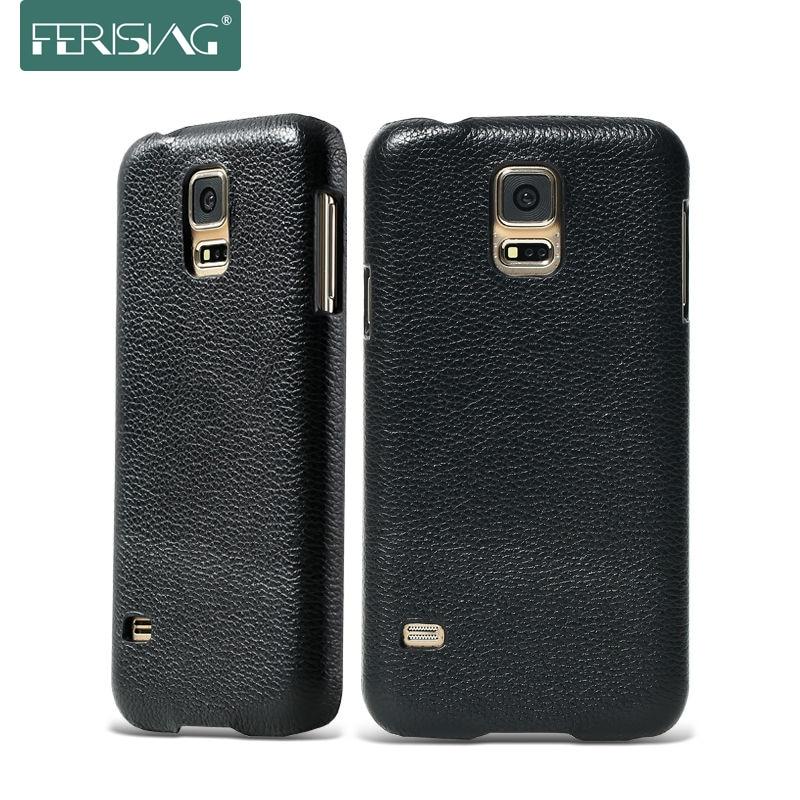 bilder für FERISING Für Samsung Galaxy S5 S6 Fall 100% Reale Echtes Kuh leder Abdeckung Für Samsung Galaxy i9600 S5 S6 G9200 Phone Cases P004