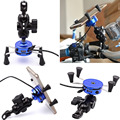 1 pcs motocicleta da bicicleta do guiador rail mount carregador usb e universal x-grip titular de telefone celular para samsung/galaxy/sony/xperia