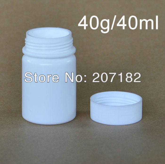 (100pcs/lot) 40ml/40g Round White Color HDPE Bottle ...