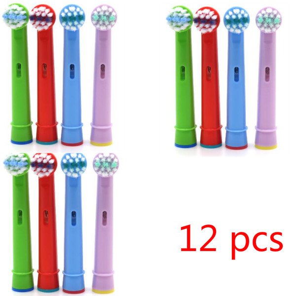 12pcs/3 Packs New Replace Electric Toothbrush Heads Heaith Care Family Brush Heads for Oral Hygiene B Sensitive image