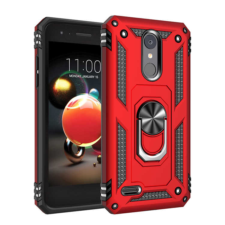 Luxury Heavy Duty Armor Shockproof Phone Case For LG Stylo 5 K40 LG aristo <font><b>2</b></font> aristo <font><b>3</b></font> Armor Case Hybrid Bumper Silicone Cover image