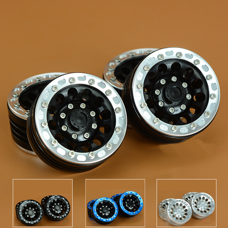 4PCS Climbing Car 1 9 inch Wheel Rim CNC Metal Lock Tire Wheel Hub for AXIAL