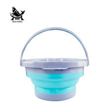 Handing Portable Round Bucket Shrink  3L 5L 10L Round Waterproof Fold Fishing Bucket Outdoor Folding Buckets Camping Tools