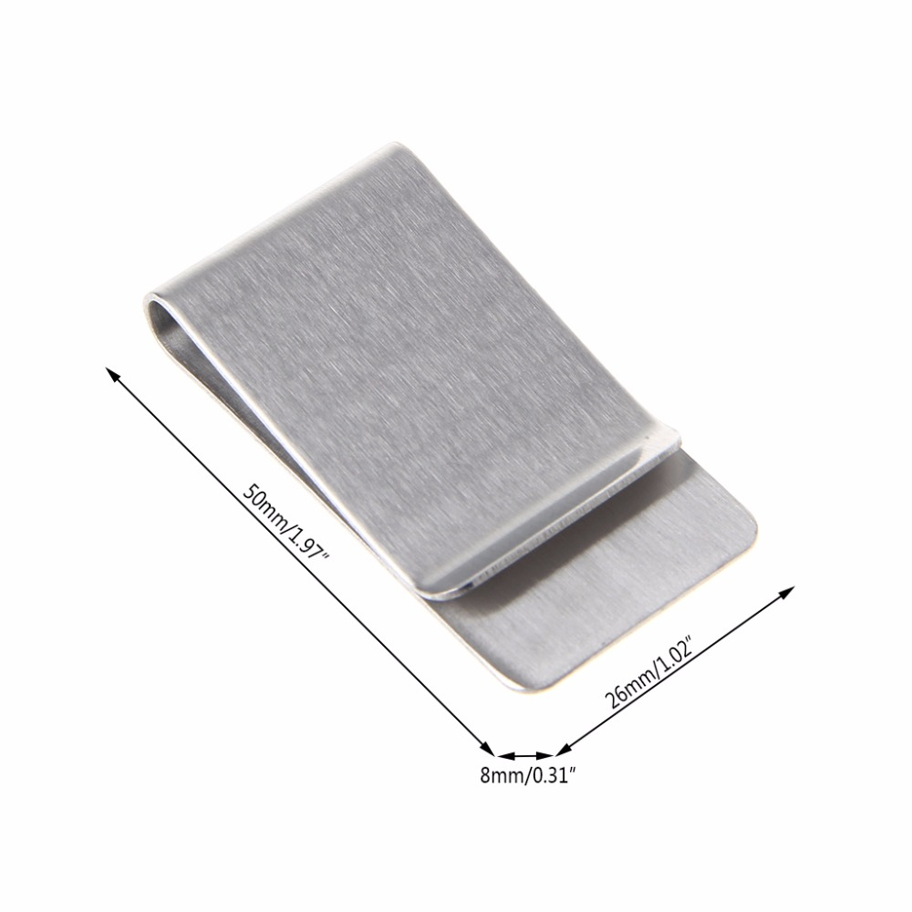 High Quality Silver Color Slim Money Clip Credit Card Wallet New Stainless Steel