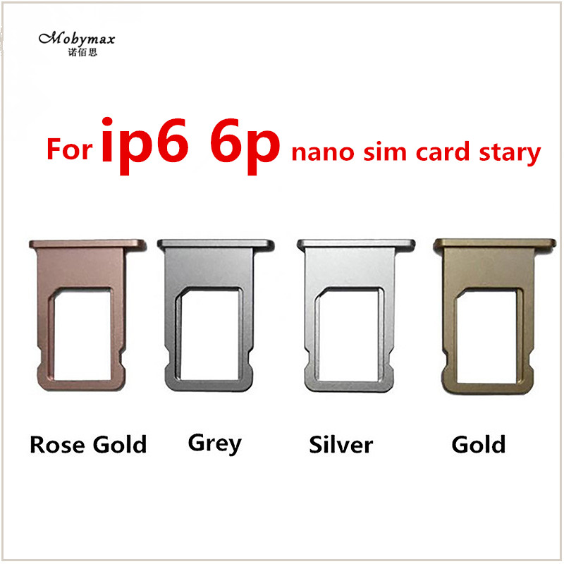 Nano SIM Card Tray Holder For iPhone 6 6 Plus Grey Silver Gold Rose Gold Sim Tray Holder Repair for iPhone 6 6plus Replacement