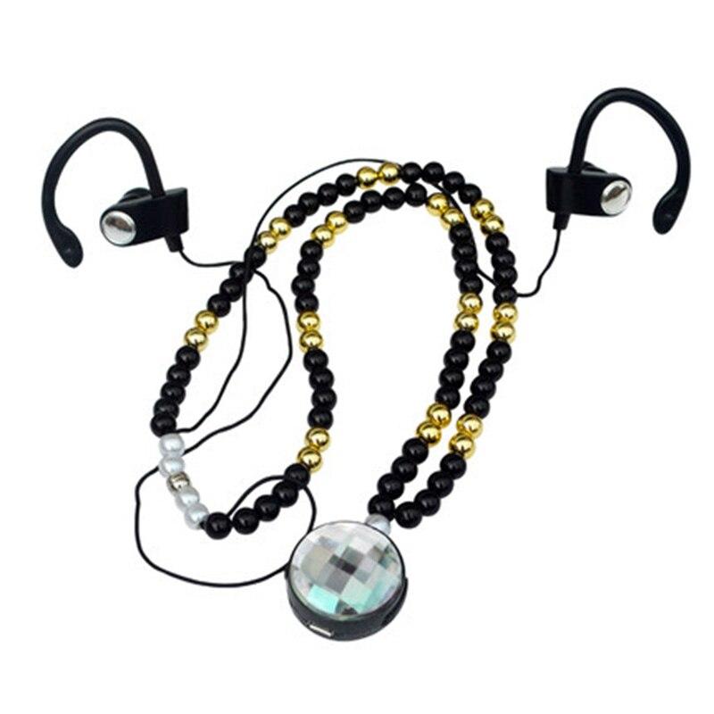 At 57 m Men necklace style bluetooth sports running 4 1 earphones ear hook heatshrinked in