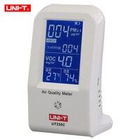 Качество воздуха метр uni t UT338C VOC детектор формальдегида PM2.5 мониторинга тестер пыли haze Температура Влажность измеритель влажности