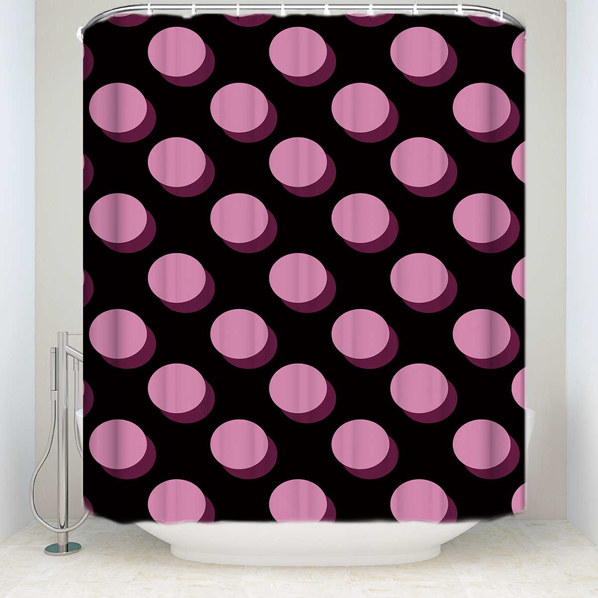 USA WC Shower Curtain Rideau Elephant Antibacterial Waterproof with 12 hooks