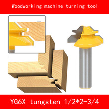 Woodworking machine 45 degree mortise and joint turning tool YG6X tungsten alloy Milling cutter wood Size 1/2*2-3/4''