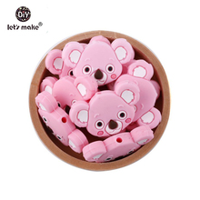 hot deal buy let's make 6pcs silicone koala teething beads bpa free food grade silicone chew toys handmade diy crafts jewelry baby teether