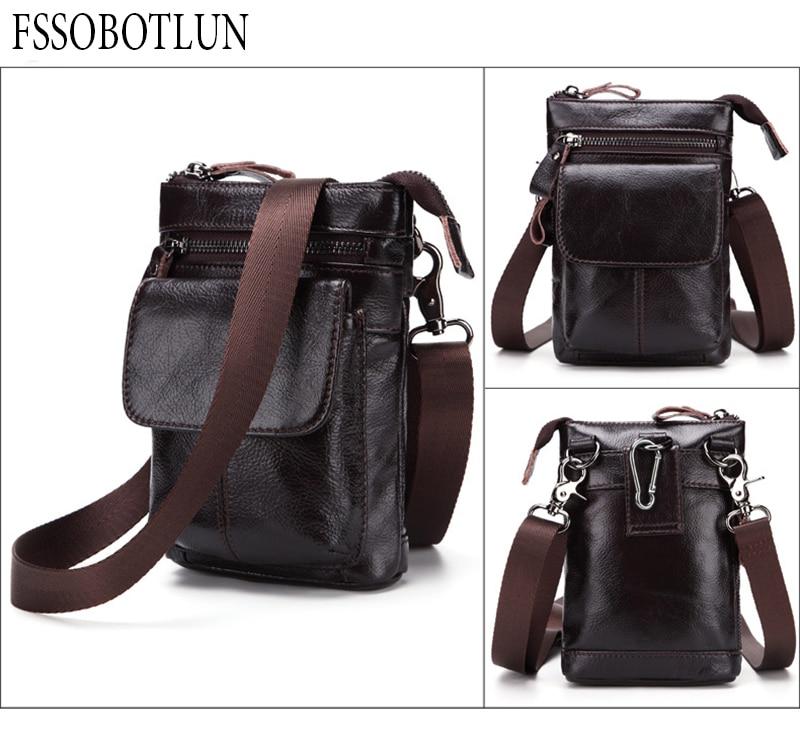 FSSOBOTLUN, Per Blackview X/BV7000 Pro/A20/BV5800/S6 Caso Cintura In Vita degli uomini Portafoglio borsa del Cuoio Genuino Della Copertura Con Tracolla