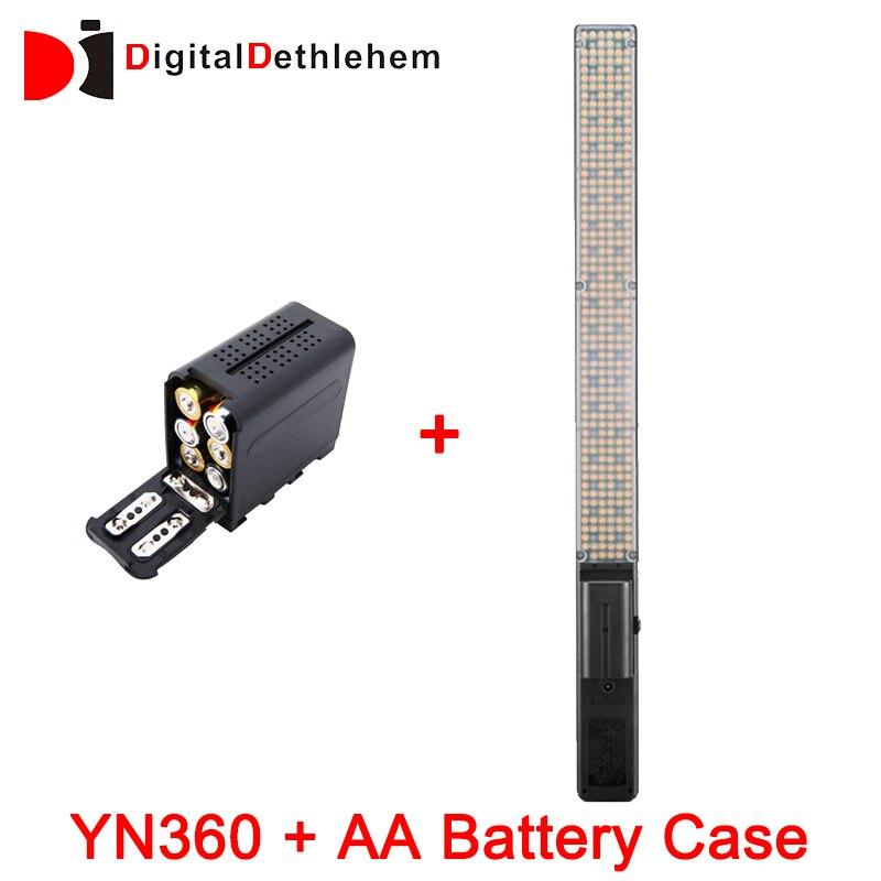 bilder für Auf Lager! yongnuo yn360 handheld led-videoleuchte 3200 karat 5500 karat rgb bunte 39,5 cm eisstock professionelle foto führte stick