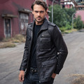 2017 New Men Black Long Genuine M65 Leather Jacket High Quality Real Sheepskin Slim Fit Men Winter Casual Coat 3XL FREE SHIPPING