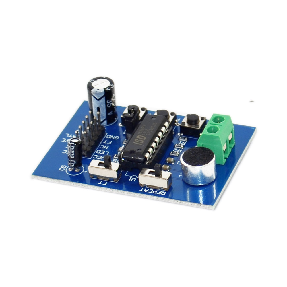New!blue PCB Board/ISD 1820 Vocal Version/vocal Module/record-play Module(onboard Microphone)