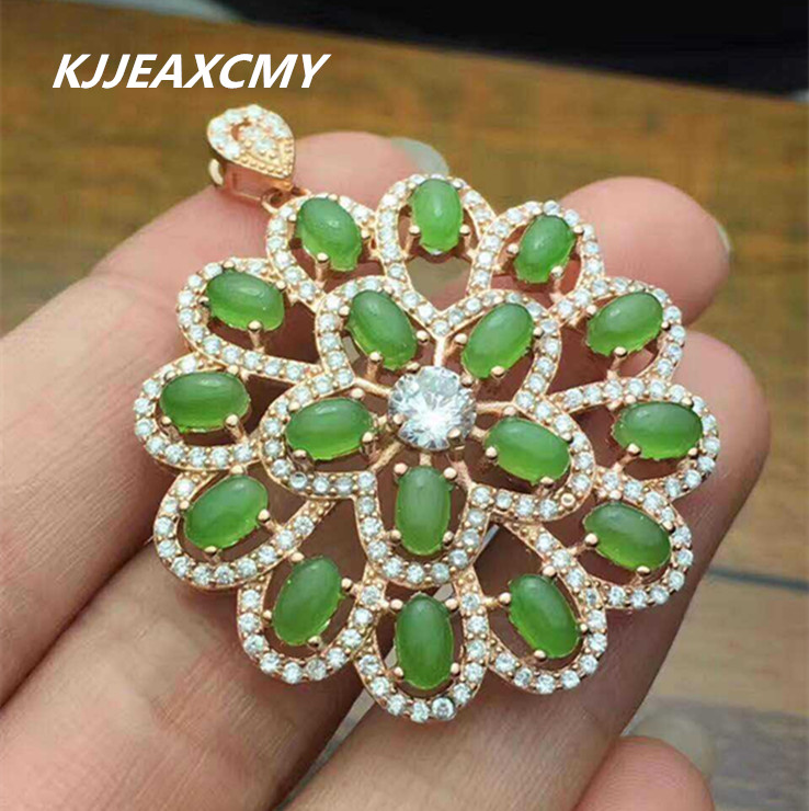 KJJEAXCMY boutique jewelry And Tian Biyu necklace, 925 sterling plated platinum inlay, natural and Tian Biyu female Pendant цены