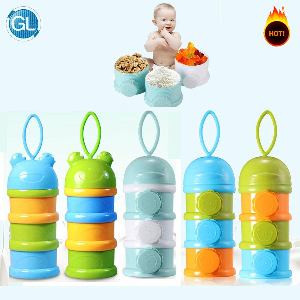 Aufbewahrung Von Säuglingsmilchmischungen Neue Ankunft Tragbare Baby Infant Feeding Milchpulver Flasche Container 4 Schichten Grid Box Zufällige Farbe Reise Aufbewahrungsbox Produkte Flaschenzuführung