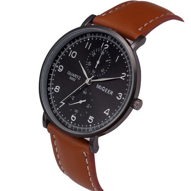 691dd06f932 MIGEER relogio masculino relógios dos homens de Moda de Luxo Retro Design  cor Prata Liga Analógico
