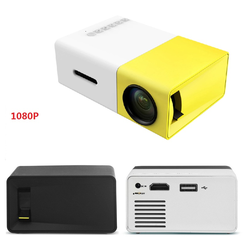 Leto e03 mini home portable led hdmi projector green www for Portable projector with hdmi input