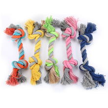Colorful Puppy Pets Rope Toys Bite 3 Size Peluche Squeak Dog Wool Pet Chew honden speelgoed