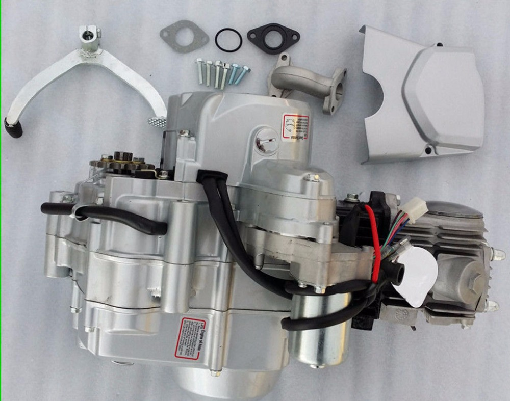 US $199 0 |3 + 1 125cc Engine 4 Stroke Electric Start Automatic Clutch Dirt  Bike Pit Bike-in ATV Parts & Accessories from Automobiles & Motorcycles on